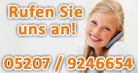 Rufen Sie uns an! (0 52 07) 92 46 654